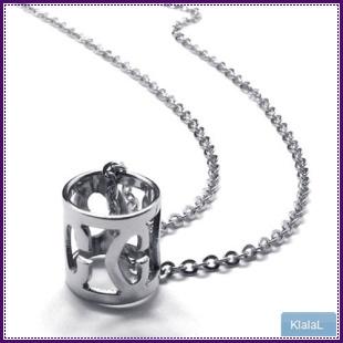 18665 women's titanium necklace stainless steel girls female style(China (Mainland))
