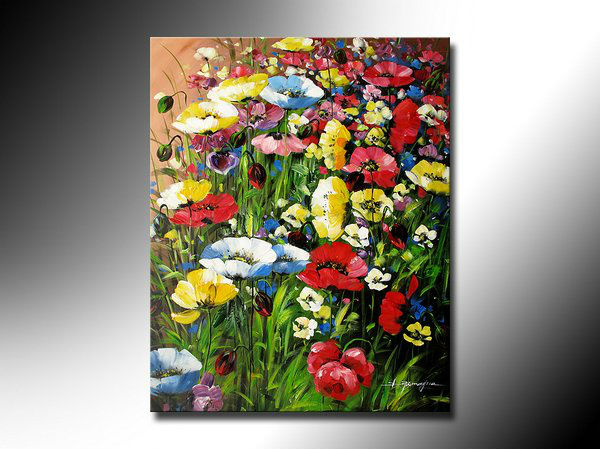 Free shipping.Floral paintings.Abstract art floral Images.High quality home decorative wall painting(China (Mainland))