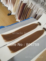 "0.8g/s18"" 1g/s 20""22""24"" Keratin stick tip hair/ I tip hair extension #6 chestnut brown color 100gram/LOT"