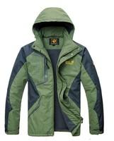 Men's Outdoor Jacket, windproof fleece mountaineering jacket. 4 color   L-4XL