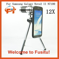 Free shipping New 12X Optical Zoom Aluminum Telephoto Lens For Samsung Galaxy Note2 II N7100