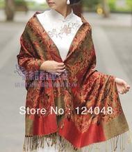 wholesale red silk shawl