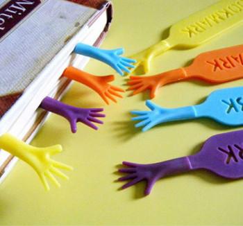 4pcs Creative 'Help Me' Colorful Bookmarks Set Random Color HV1645
