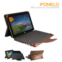 Black Leather Cover Case Protector For surface windows RT 10.6 and surface PRO Detachable keyboard case Free air mail