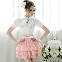 2013 spring gentlewomen multi-layer petals high waist puff skirt