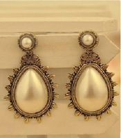 (Min.order is $10 ) Fashion Europe vintaged Carve rain earrings !Free shipping!E2072E2072