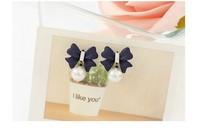 Free shipping pearl earrings, girl cute style earrings hot sale