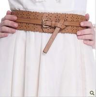2013summer cutout decoration flowers all-match wide belt strap women's belt