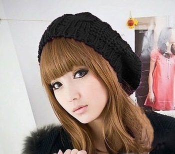 Sz twist cap handmade knitted hat knitted hat beret 80g