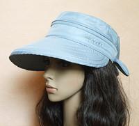 Anti-uv bow female summer dual-use visor sun hat sunbonnet big along the cap female
