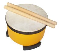 Child percusses orff instruments musical instrument 6 to drum