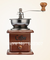 Homezest manual coffee grinder hand coffee grinding machine classical stainless steel material logs