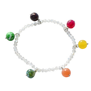 Accessories crystal color bead bell multi-layer bangle female fashion red string fashion vintage