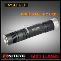 1PC Niteye MSC20 Cree XM-L U2 18650 SS Magnetic Control Wateprofo IPX-8 Military Tactical LED Flashlight +LED Power Indicate