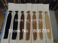 "18"" 20""22""24"" Indian remy Keratin stick tip hair/ I tip hair extension Stock #1 #2 #4 #22 #24 #613 #60 optional 100gram/pk"