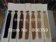 """18"""" 20""""22""""24"""" Indian remy Keratin stick tip hair/ I tip hair extension Stock #1 #2 #4 #22 #24 #613 #60 optional 100gram/pk(China (Mainland))"""