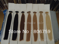 "18"" 20""22""24"" Indian remy Keratin stick tip hair/ I tip hair extension Stock #1 #2 #4 #22 #24 #613 #60 optional 100gram/pk"