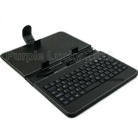 Free Shipping keyboard leather case for 7 inch Android Tablet PC with Mini USB 2.0 connector