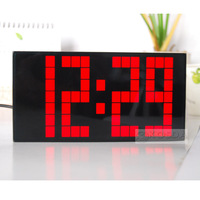 Hot Sale Red Color Digital LED Wall Clock for Free Shipping by CPAM