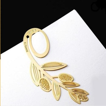 (Minimum order $5,can mix)  Creative 18K gold-plated Ear Style Bookmark Book Marks HY34103