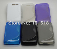 200pcs/lot&free shipping Soft S-Line TPU Gel Case for Motorola RAZR D1