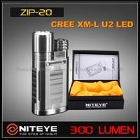 Free DHL,Niteye ZIP20 ZIP 20 Ti Cree XML U2 LED Titanium Flashlight