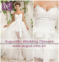 AWL2995 Front Short Long Back New Model Bridal Wedding Dress 2013