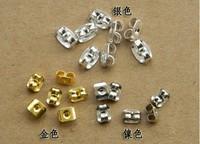 Metal earring plug/earrring safety backs/ earring stopper , 1000pcs/lot wholesale