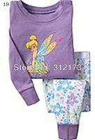 FREE SHIPPING----girl pajama set autumn winter wear long sleeves sleepwear nightclothes lovely cartoon homewear 1pcs 0422-33