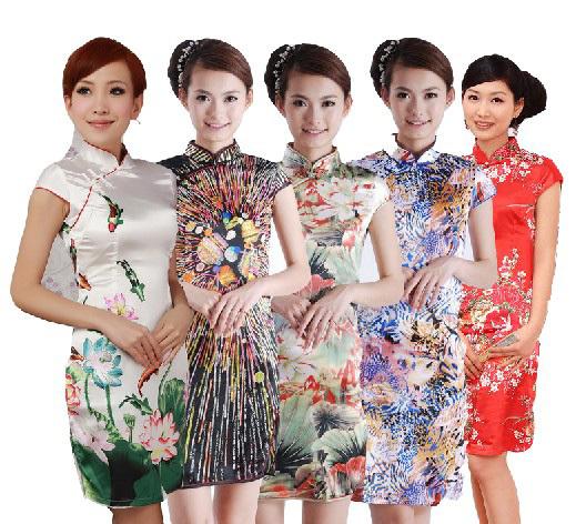 Традиционное китайское платье Cheongsam s/xxl китайское пиво в екатеринбурге
