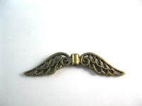 50pcs  Vintage Bronze Angel Wings Jewelry Charm Pendants Findings Fit Jewelry Making a725