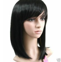 sexy style black medium health hair Wig/wigs