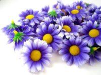 """24X  Gerbera Daisy Heads Artificial Silk Flower  1.75""""  Purple"""