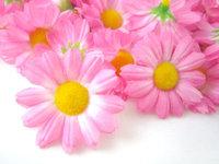 """24X  Gerbera Daisy Heads Artificial Silk Flower  1.75""""  Pink"""