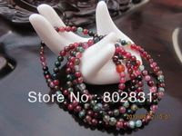 100% Natural Colorful Jade Beads Elastic Jewelry Necklace