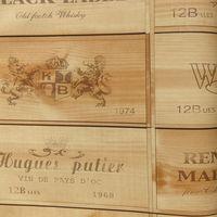 Artshow vinyl Wallpaper fashion wood wine labels letter wall paper wine