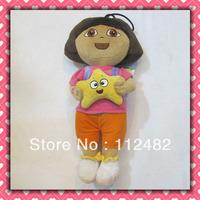 Free shipping Dora the explorer plush doll 30cm 12pcs/lot Soft plush Toys