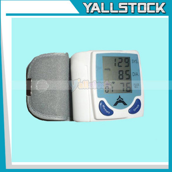 Automatic Wrist Blood Pressure & Pulse Monitor New