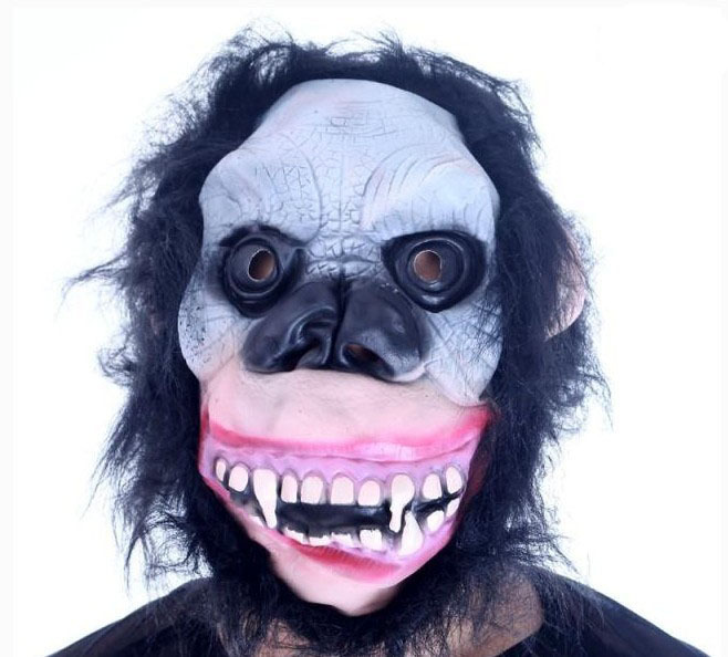 Halloween costume party mask terrorist skeleton simulation latex orangutan 95 g(China (Mainland))