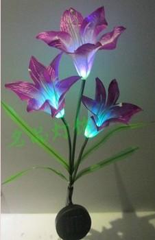 Lighting solar lawn light garden lights garden lights outdoor lamp pole lily
