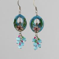 Handmade jewelry cloisonne earrings vintage national trend earring drop earring