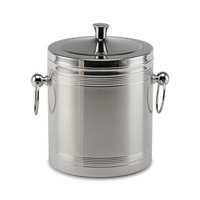 2L Stainless steel ice bucket double layer insulation bucket ice lq2110