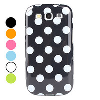 Spots Pattern Soft Case Cover for Samsung Galaxy S3 I9300 (Assorted Colors)