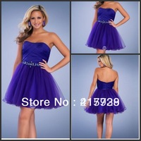 Free Shipping!Strapless A Line Beading Off the shoulder Organza Prom Cocktail Party Dress Gown