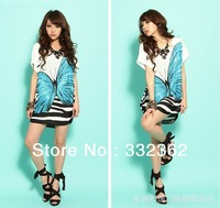 2013 New fashion dress butterfly Print decor for lady spring & summer LY1344