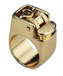 Hot Selling! Not Real Lighter, Just Lighter Shape Design Ring! Fashion fashion ring lighter accessories, free shipping ..