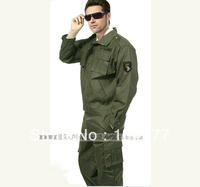 Free shipping 2013 fashion Work wear set male camouflage set male olive canvas casual wear clothing training uniform