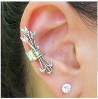 Free shipping,New punk style 3 arrow party ear clip earring cuff,jewelry wholesale