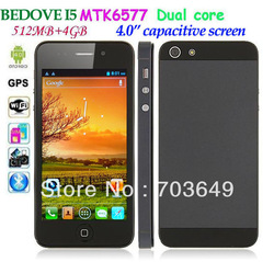 BEDOVE I5 MTK6577 Dual Core 512MB RAM 4GB ROM Android 4.0 3G Smart Phone 4&quot; Capacitive Screen (854*480) GPS WIFI Bluetooth(Hong Kong)