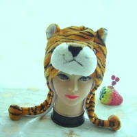 free shipping strip tiger design animal hats bomber hats three colors free size wholesale